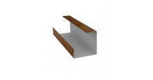 Доборные элементы (Блок-хаус/ЭкоБрус) Grand Line в Кирове Планка угла внутреннего составная нижняя
